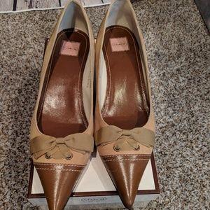 Coach kitten heel shoes